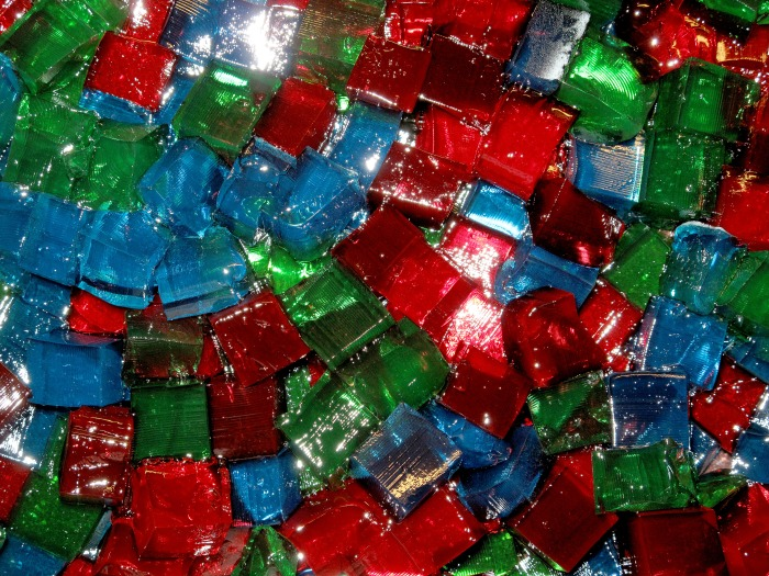 Stained Glass Jello Prep