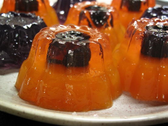 Peach Blackberry Jello Minis