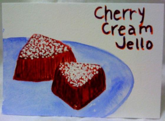 Cherry Cream Jello