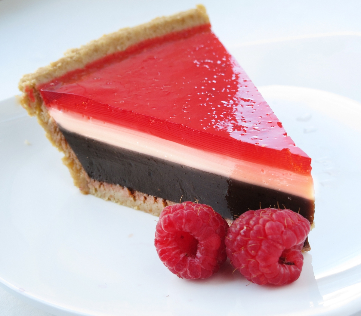 Raspberry Chocolate Pudding Pie - The Jello Mold Mistress