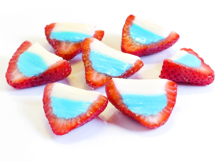 4th of July Strawberry Shots